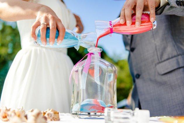 Песочная церемония на свадьбе