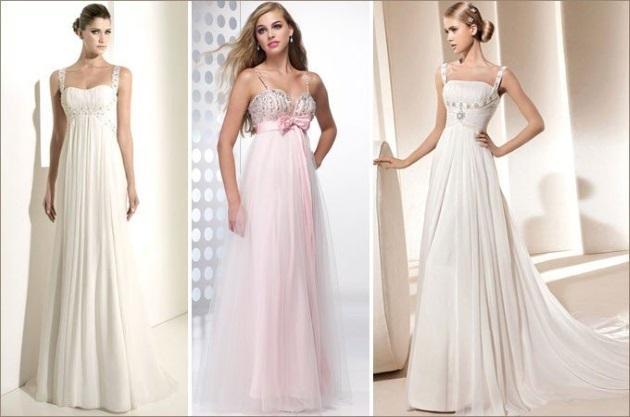«Ампир» или «Греческое» свадебное платье