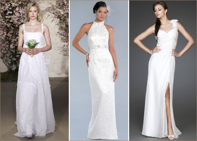 «Прилегающий силуэт» или «прямое» свадебное платье