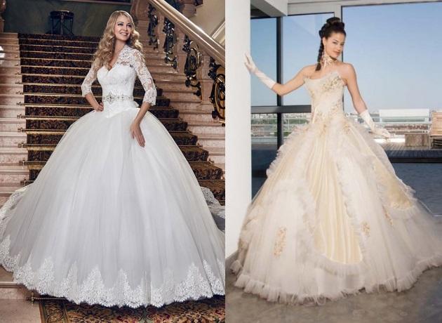 «Бальное платье» или «пышное» свадебное платье
