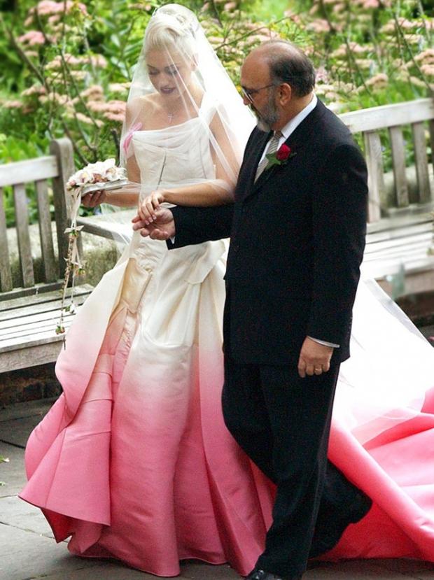 свадебное платье с переливом Гвен Стефани