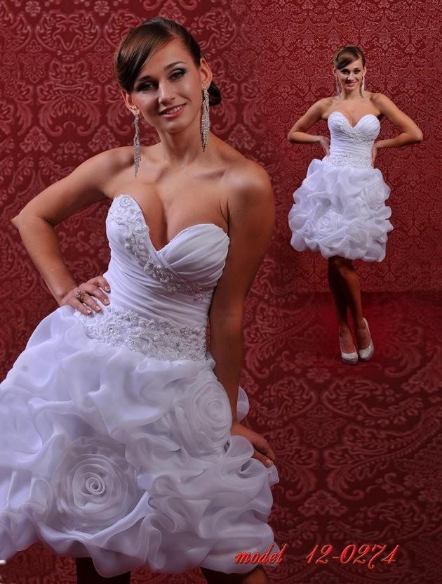 Платье свадебное, RP 12-274, короткое, А-силуэт