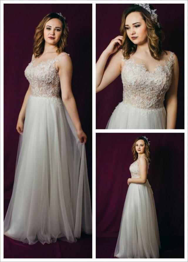 Свадебное платье легкое/бисер