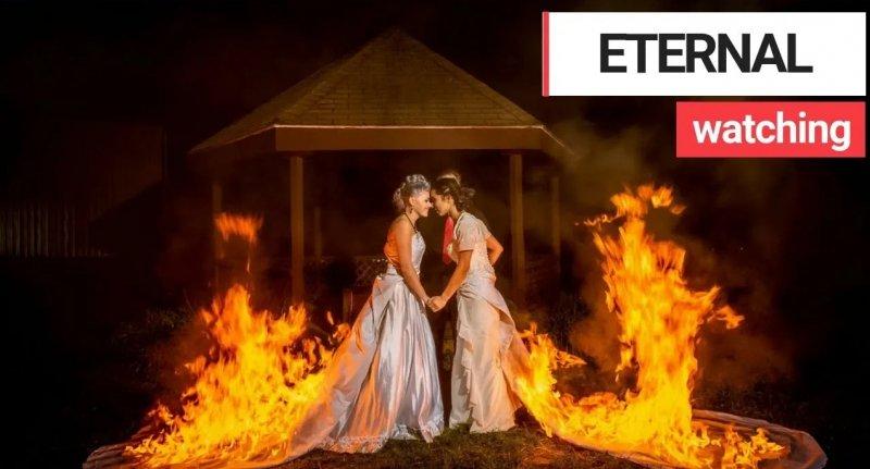 Невесты подожгли свои свадебные платья, чтобы сделать красивые фото