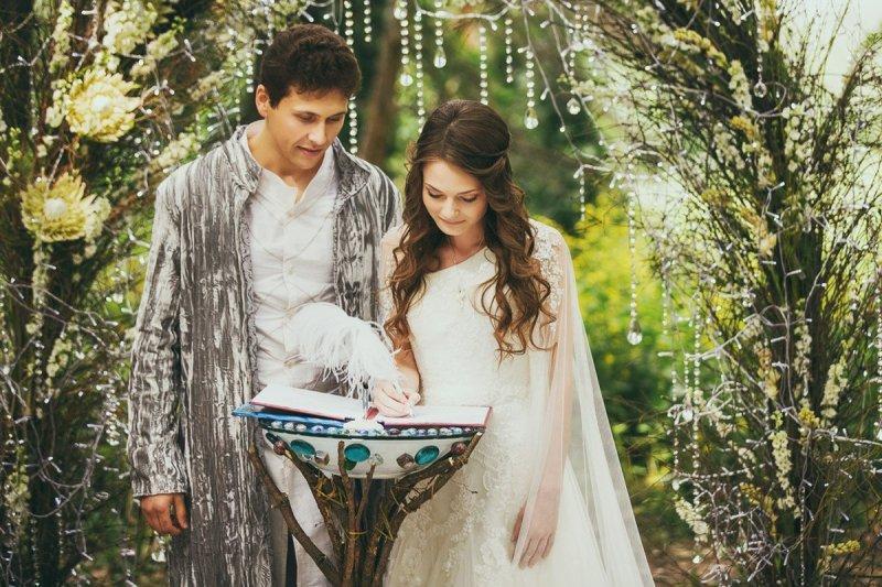 Свадьба в стиле ФЭНТАЗИ - оформление, декор, платье невесты
