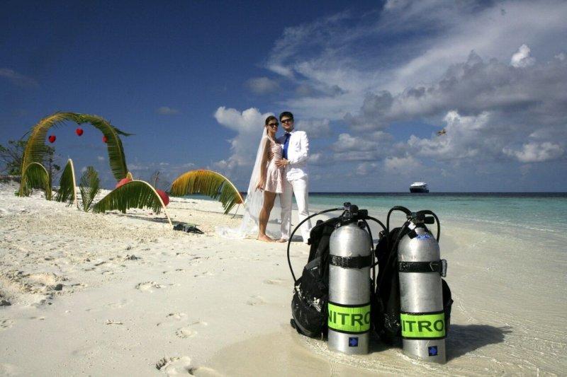 Свадьба под водой, описание и фото