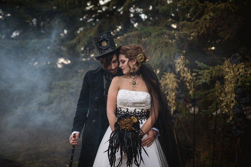 Свадьба в стиле ГОТИКА  - оформление, декор, платье невесты