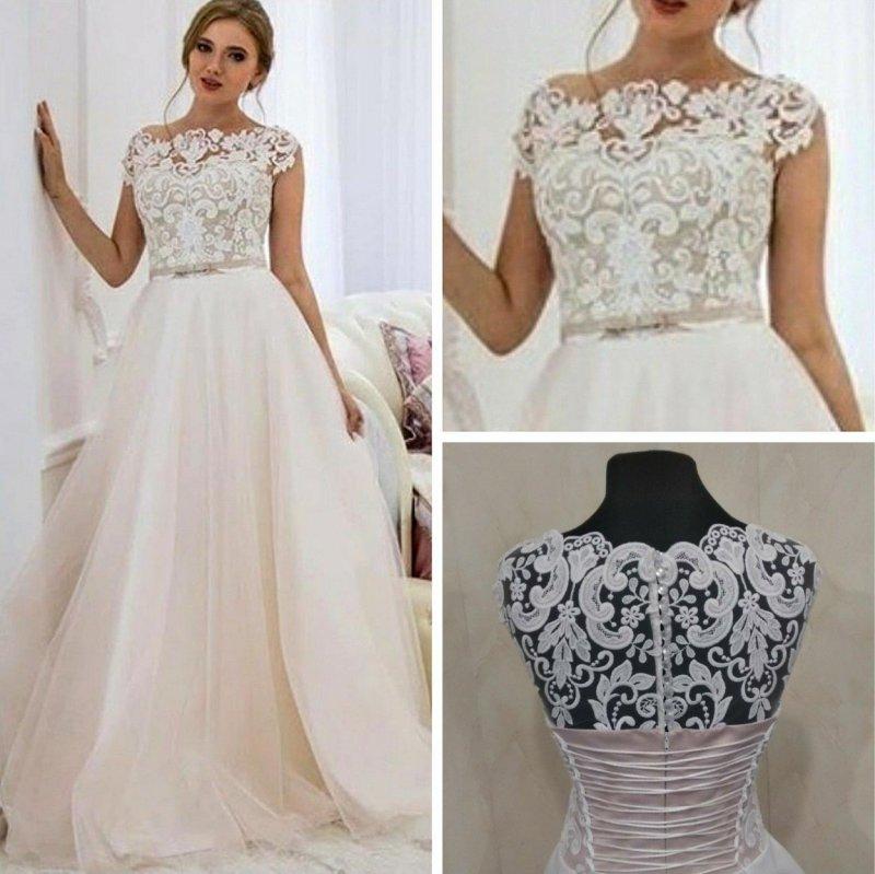 Свадебное платье с юбкой из еврофатина
