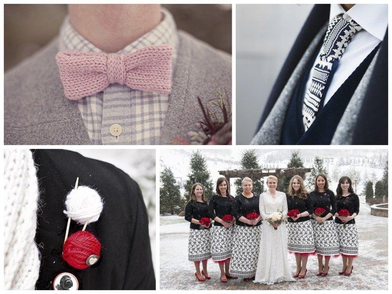 Вязанная свадьба - оформление, декор, платье невесты